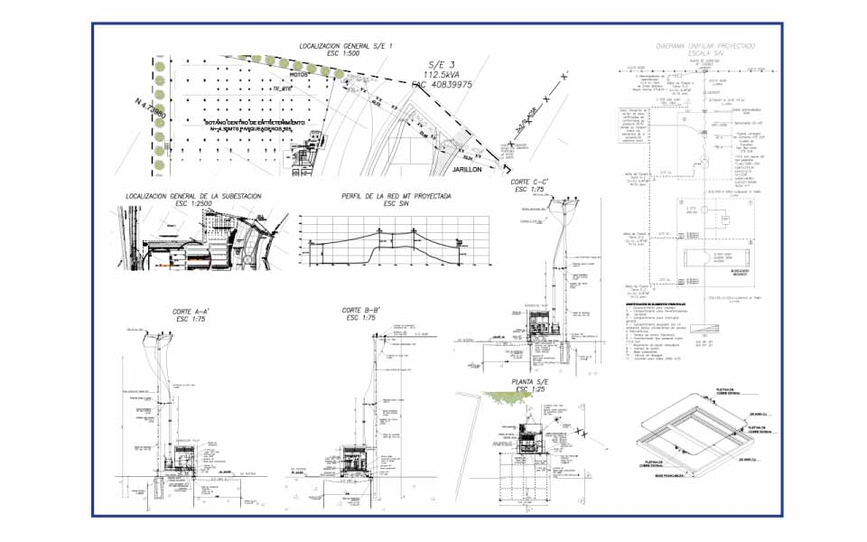 Designs of Medium Voltage Networks and Substations