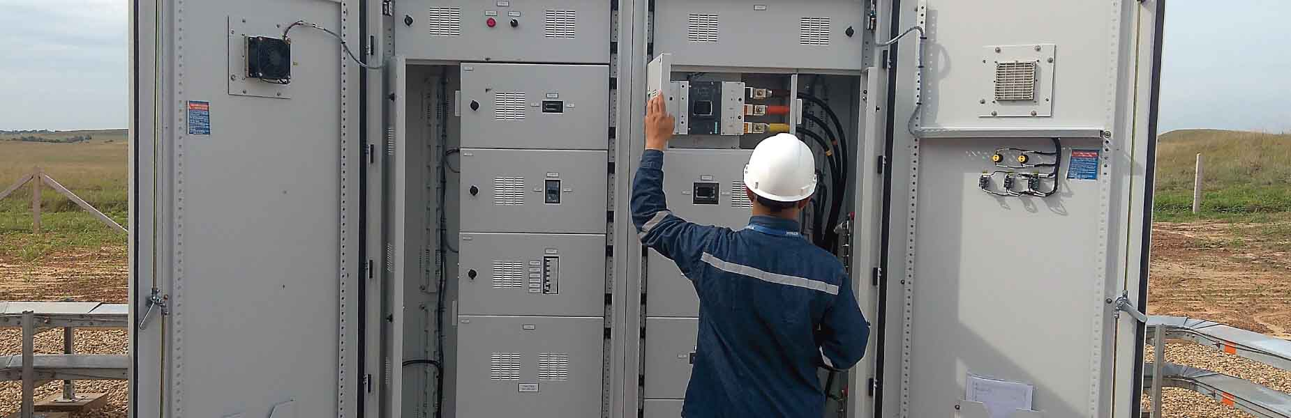 Commissioning of electrical equipment and substations